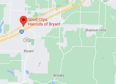 Map of Sport Clips Bryant Arkansas location