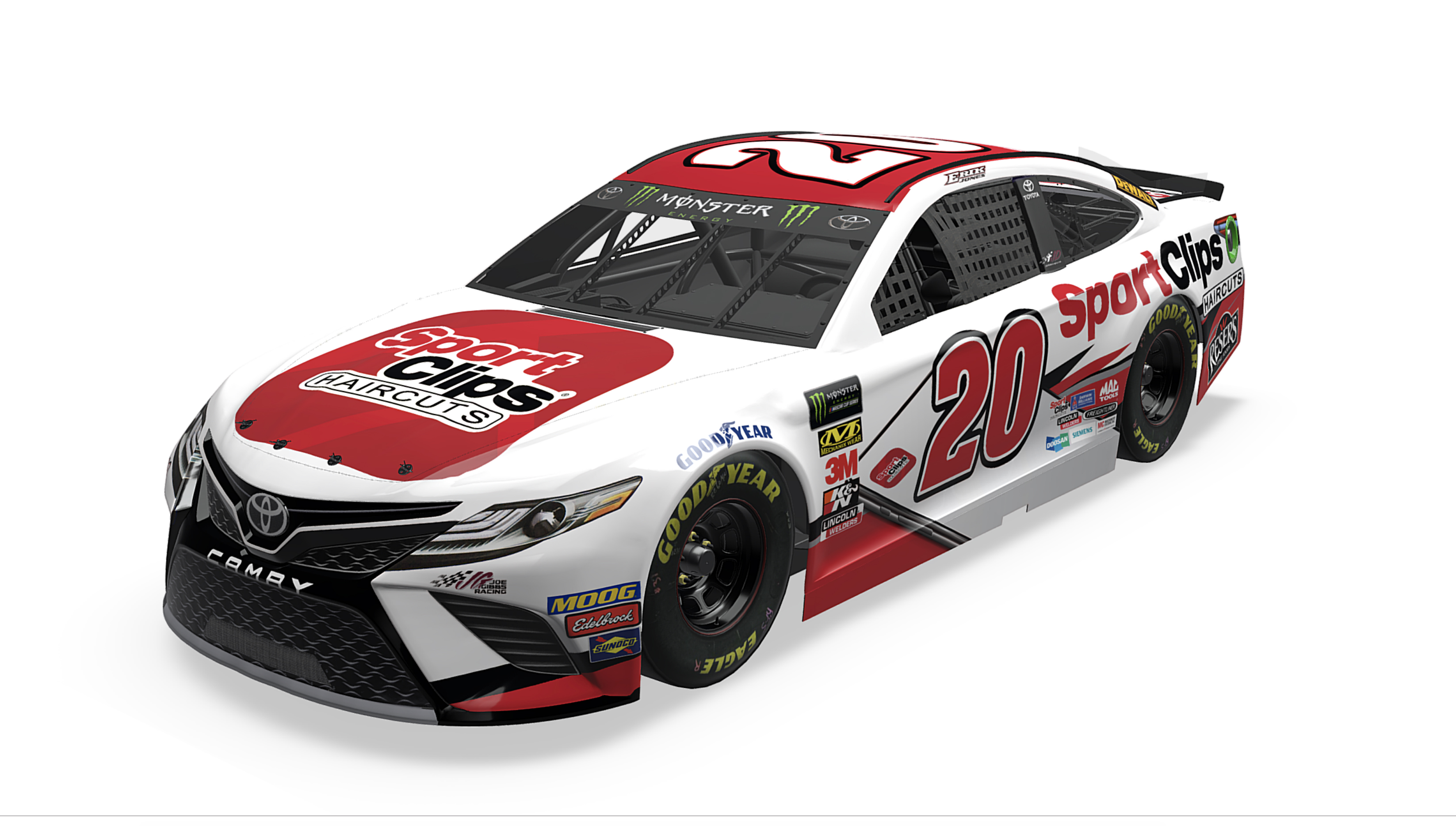 Sport Clips Racing NASCAR race car