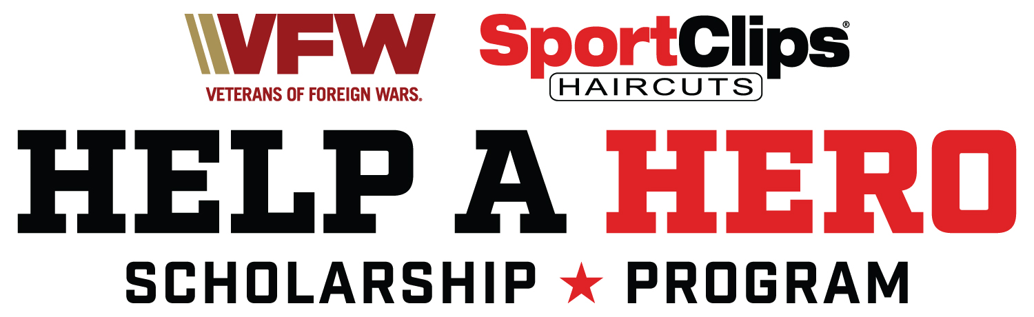 Sport Clips and the VFW Help A Hero Scholarship Program Logo