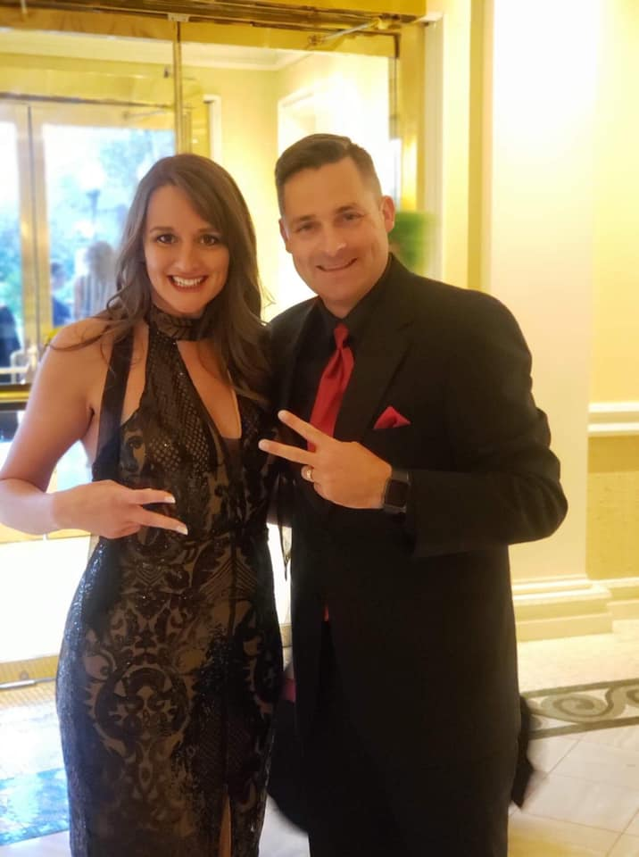 Chad Jordan and Lisa Goodwin in formal attire