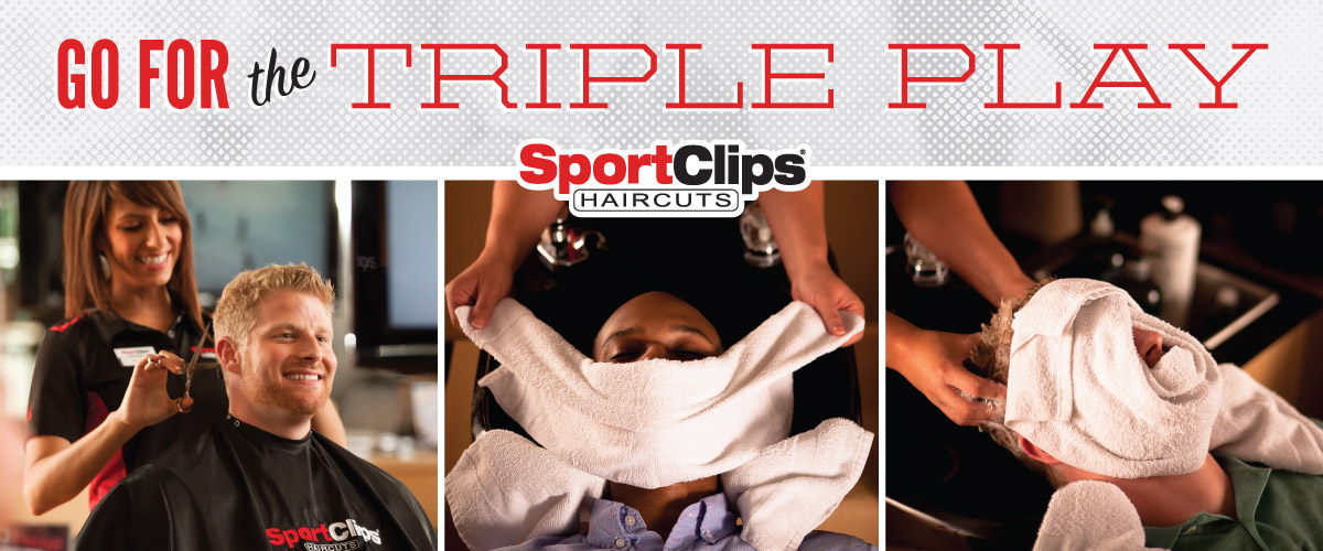 Haircut Steamed Towel And Massaging Shampoo Sport Clips