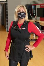Sport Clips stylist wearing mask